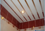 How to make a rack ceiling in the bathroom