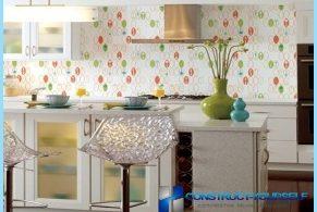 Options pour le papier peint de la cuisine avec des photos