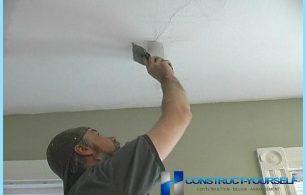 Comment faire pour supprimer des fissures dans le plafond