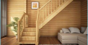 Escaliers pour les chalets et maisons privées avec photos