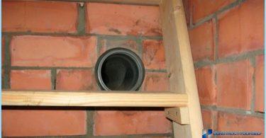 Ventilation dans le sous-sol d'une maison privée