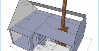 Le projet est un toit mansardé d'une maison privée