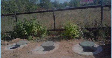 La fosse de dispositif réservoir d'anneaux en béton