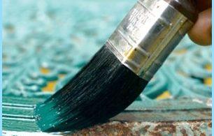 La peinture et la rouille résistant à la chaleur sur le métal