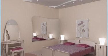 Conception de plâtre chambre de plafond avec des photos