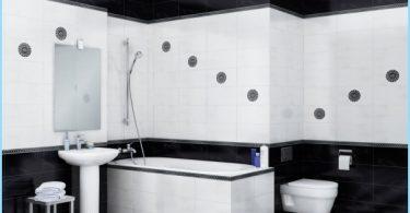 La conception de salle de bain noir et blanc