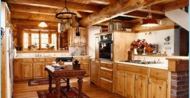 Cuisine dans une maison en bois - un design moderne au chalet