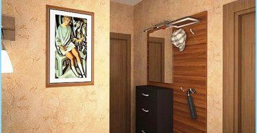 Papier peint liquide dans le couloir intérieur