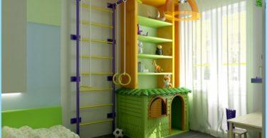 Zone sportive dans la chambre des enfants