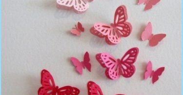 papillons décoratifs pour décorer les murs