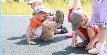 Rubber crumb revêtement pour terrains de jeux pour enfants