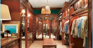 Des variantes du design d'intérieur et un grand dressing