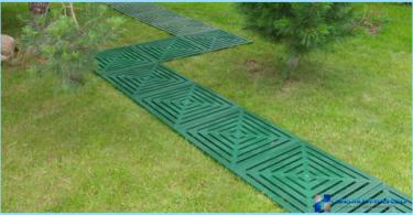 chemins de jardin en plastique